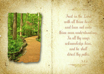Photograph - Proverbs Trust In The Lord by Larry Bishop