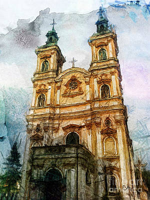 Old Church Painting - Providence Church by Mo T