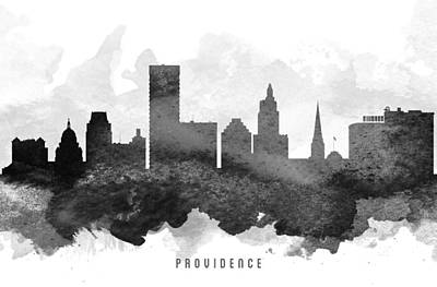 Providence Cityscape 11 Art Print by Aged Pixel