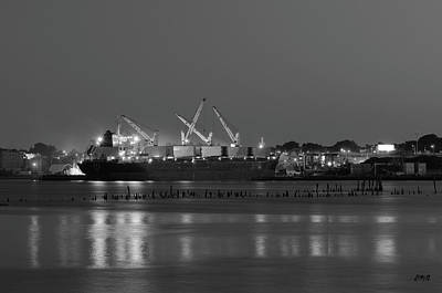 Photograph - Providence Harbor I Bw by Dave Gordon