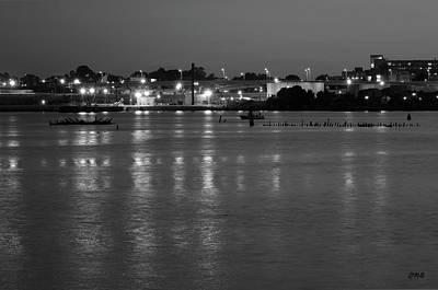 Black Commerce Photograph - Providence Harbor II Bw by Dave Gordon