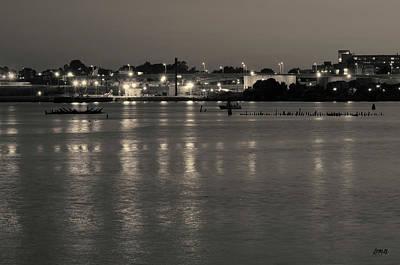 Black Commerce Photograph - Providence Harbor II Toned by David Gordon