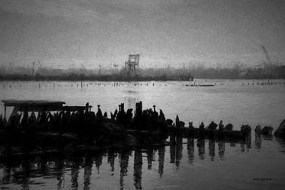 Black Commerce Photograph - Providence Harbor Iv Bw by David Gordon