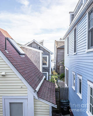 Cape Cod Photograph - Provincetown Alley Cape Cod by Edward Fielding