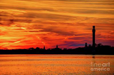 Cape Cod Photograph - Provincetown Cape Cod Sunset by Denis Tangney Jr