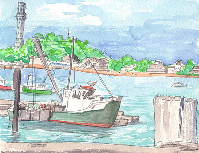 Provincetown Dock Art Print by E Gibbons