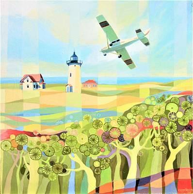Painting - Provincetown Flight by Ezartesa Art