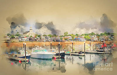 Photograph - Provincetown Harbor Cape Cod by Jack Torcello