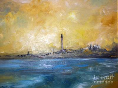 Vacation Spots Painting - Provincetown Harbor by Kenneth Robinson