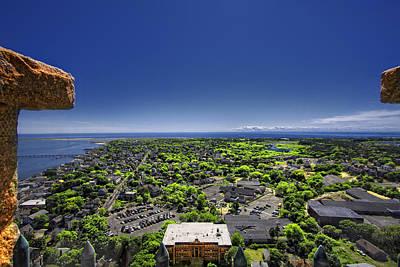 Cape Cod Digital Art - Provincetown Panoramic Aerial by Dapixara Art