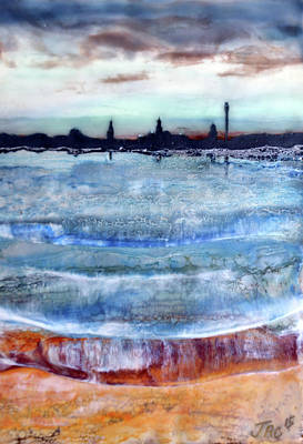Painting - Provincetown Skyline 1 by Jennifer Creech