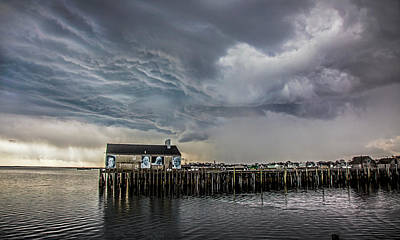 Photograph - Provincetown Storm, Cabrals Wharf by Charles Harden