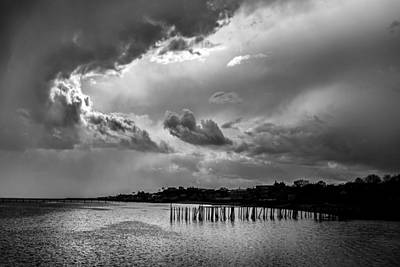 Storm Clouds Cape Cod Photograph - Provincetown Storm by Charles Harden
