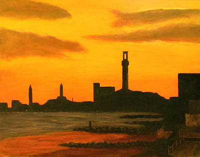 Cape Cod Painting - Provincetown Sunset by Wayne Kivi