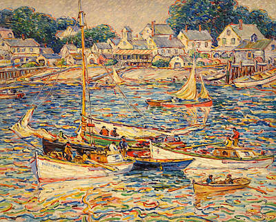 Provincetown Painting - Provincetown Waterfront by Mountain Dreams