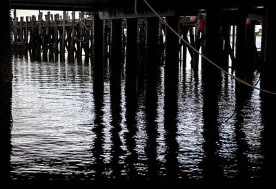 Photograph - Provincetown Wharf Reflections by Charles Harden