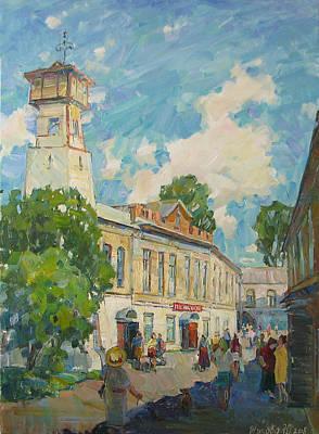 Provincial Russian City Art Print by Juliya Zhukova