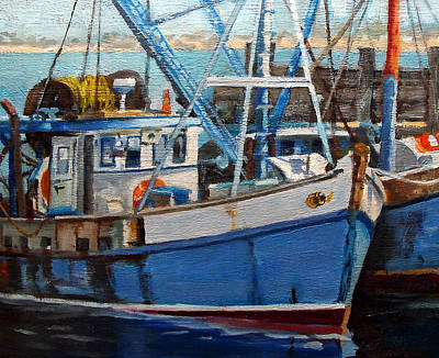 Painting - Provinctown Fishing Boats by Michael McDougall