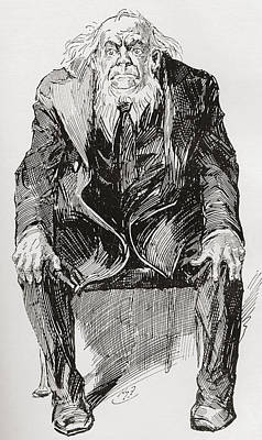 Great Expectations Drawing - Provis. Illustration By Harry Furniss by Vintage Design Pics