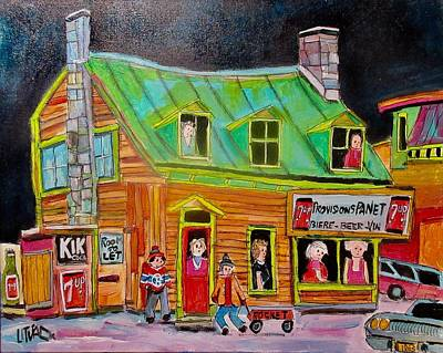 Painting - Provisions Panet 1963 Faubourg Molasses by Michael Litvack