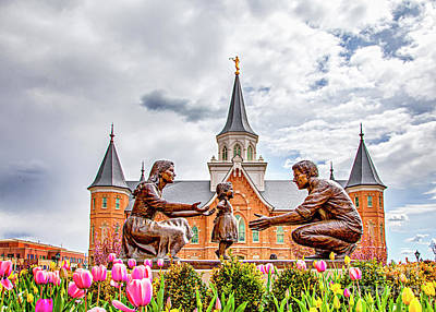 Photograph - Provo City Center Temple Family by David Millenheft