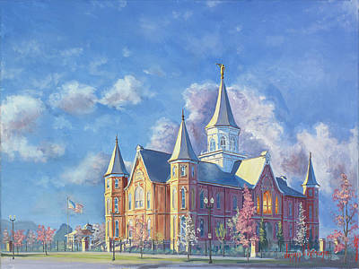 Painting - Provo City Center Temple by Jeff Brimley