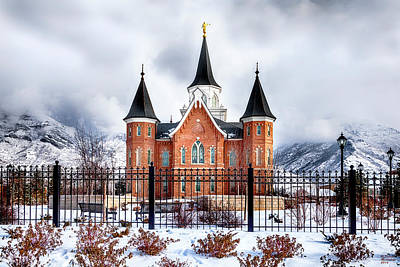 Photograph - Provo City Center Temple Lds Large Canvas Art, Canvas Print, Large Art, Large Wall Decor, Home Decor by David Millenheft
