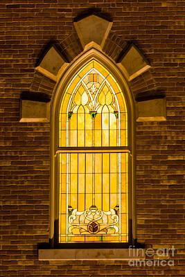 Provo City Center Temple Stainglass Window - Utah Art Print by Gary Whitton