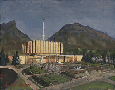 Lds Painting - Provo Spring Evening by Jeff Brimley