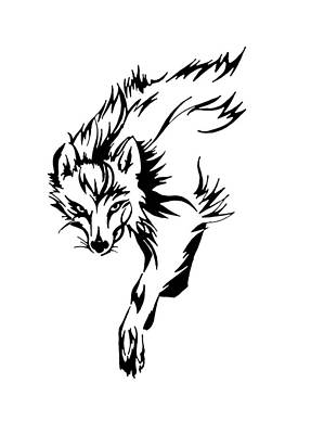 Prowler Drawing - Prowler by Fliss Ellis
