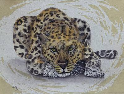 Painting - Prowling Leopard Swirl by Kelly Mills