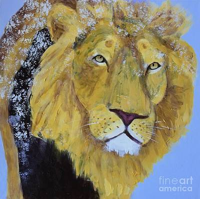 Painting - Prowling Lion by Donald J Ryker III