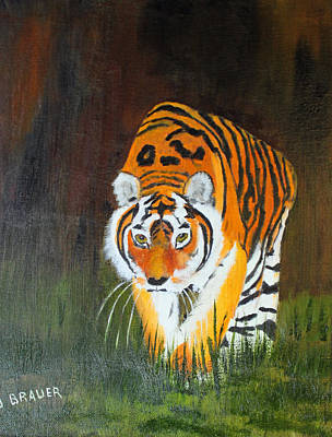 Painting - Prowling Tiger by Jack G  Brauer