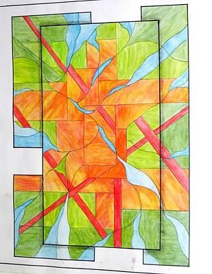 Painting - Proyecto Para La Vidriera by Justyna Pastuszka