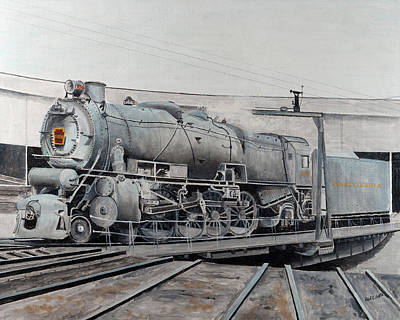 Prr M1 On Turntable Altoona Pa Art Print by Paul Cubeta