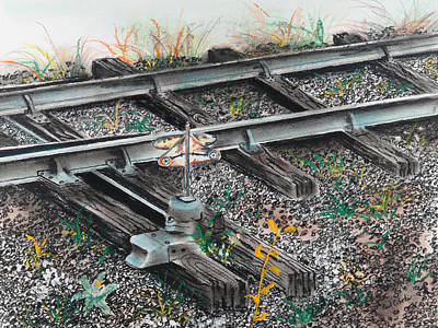 Painting - Prr Switch Cambria County Pa by Paul Cubeta