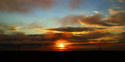 Prudhoe Bay Sunset Art Print