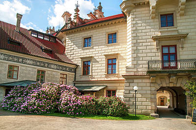 Photograph - Pruhonice Castle In Spring Time by Jenny Rainbow