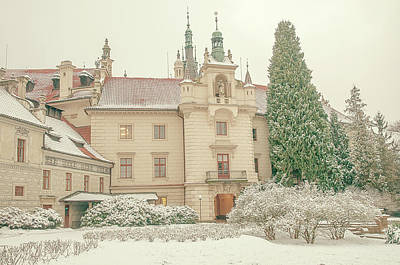 Photograph - Pruhonice Castle In Winter by Jenny Rainbow
