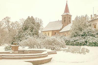 Photograph - Pruhonice Castle In Winter. Prague by Jenny Rainbow