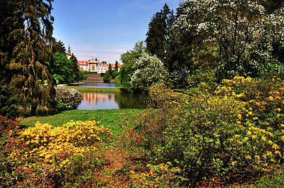 Photograph - Pruhonice Park With Castle In Spring Time by Jenny Rainbow