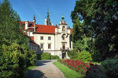 Photograph - Pruhonice Castle Entrance by Jenny Rainbow