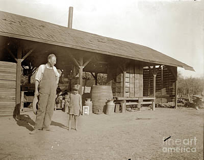 Photograph - Prune  Dipping Shed Near Gilroy 1900 by California Views Mr Pat Hathaway Archives