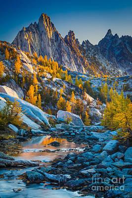Photograph - Prusik Peak And Tamaracks by Inge Johnsson