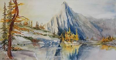 Prusik Peak Fall Morning Art Print by Sukey Watson