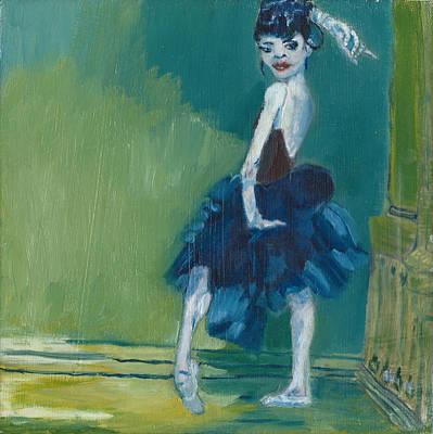 Prussian Blue Dancer Original by Omar Aviles