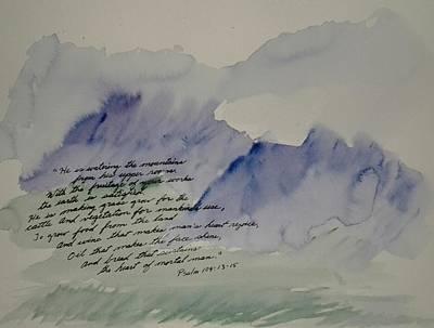 Painting - Psalm 104 by B L Qualls
