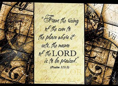 Psalm 113 3 Art Print by Gary Bodnar