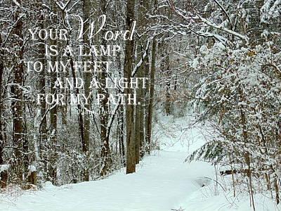 Lovely Lavender - Psalm 119 105 by Christine Peileke