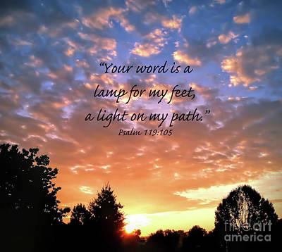 Photograph - Psalm 119 105 by Kerri Farley